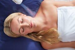 Tratamento cryotherapy localizado em termas Fotografia de Stock Royalty Free