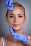 Tratamento da cara do botox imagem de stock royalty free