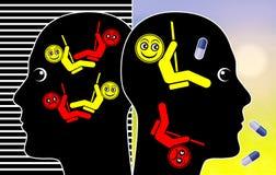 Tratamento da doença bipolar ilustração royalty free
