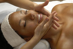 Tratamento da face da beleza. Fotos de Stock