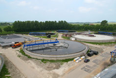 Tratamento da limpeza da água Waste Fotos de Stock Royalty Free
