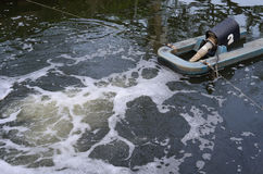 Tratamento de águas residuais Imagem de Stock