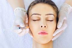 Tratamento de Botox Imagens de Stock