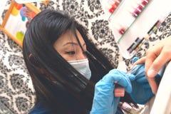 Tratamento de mãos Fotografia de Stock