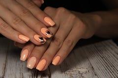 tratamento de mãos bonito da forma Foto de Stock
