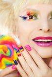 Tratamento de mãos e composição do arco-íris Imagem de Stock Royalty Free