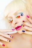 Tratamento de mãos e composição do arco-íris Fotografia de Stock