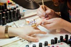 Tratamento de mãos nos termas Imagem de Stock Royalty Free