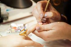 Tratamento de mãos nos termas Foto de Stock Royalty Free