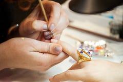 Tratamento de mãos nos termas Fotografia de Stock