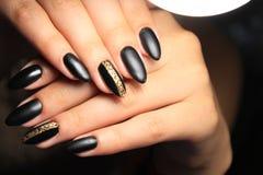 tratamento de mãos preto elegante Foto de Stock Royalty Free