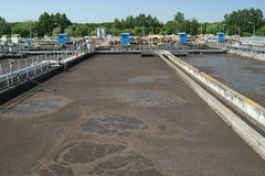 Tratamento de Wastewater Imagem de Stock Royalty Free