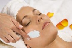 Tratamento facial foto de stock
