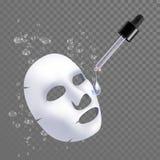 Tratamento facial da umidade da máscara da folha do vetor 3d ilustração royalty free