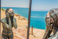 Tratamento Jordão do cuidado do corpo da lama do Mar Morto Fotografia de Stock Royalty Free