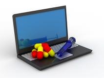 Tratamento para o depndence do computador ilustração stock