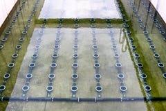 Tratamiento de aguas residuales Fotografía de archivo