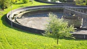 Tratamiento de aguas residuales Foto de archivo libre de regalías