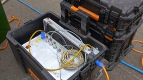Tratamiento de aguas residuales, limpieza del sistema de aguas residuales Imagen de archivo libre de regalías