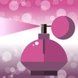 Tratamiento de cristal del icono de la belleza de la botella de perfume Fotos de archivo