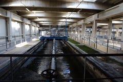 Tratamiento de la limpieza de las aguas residuales Imagen de archivo