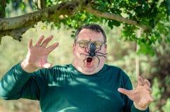 Tratamiento de la terapia de la exposición del arachnophobia imagen de archivo libre de regalías