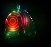 Tratamiento de los pulmones Fotos de archivo libres de regalías