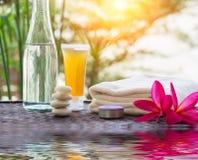 Tratamiento de Zen Spa con reflexiones del agua Fotografía de archivo libre de regalías