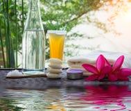 Tratamiento de Zen Spa con reflexiones del agua Fotos de archivo libres de regalías