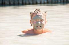 Tratamiento del baño de fango del mar muerto Imagenes de archivo