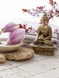 Tratamiento del balneario con la recuperación del zen Fotografía de archivo