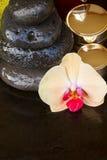 Tratamiento del balneario de la orquídea Fotos de archivo libres de regalías
