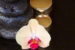 Tratamiento del balneario de la orquídea Fotos de archivo