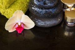 Tratamiento del balneario de la orquídea Foto de archivo