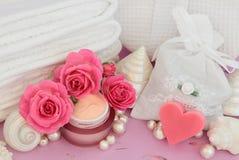 Tratamiento del balneario de Rose Imágenes de archivo libres de regalías