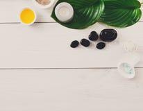 Tratamiento del balneario, fondo del aromatherapy Detalles y accesorios Imagen de archivo libre de regalías