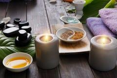 Tratamiento del balneario, fondo del aromatherapy Detalles y accesorios Imagenes de archivo