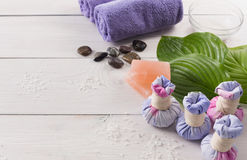 Tratamiento del balneario y fondo del aromatherapy Imágenes de archivo libres de regalías