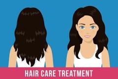 Tratamiento del cuidado del cabello stock de ilustración