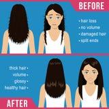 Tratamiento del cuidado del cabello ilustración del vector