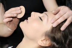 Tratamiento del maquillaje y de la belleza imagenes de archivo