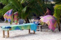 Tratamiento del masaje de la playa imagenes de archivo