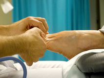 Tratamiento del pie Fotografía de archivo