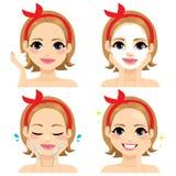 Tratamiento facial de la belleza stock de ilustración