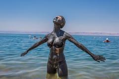 Tratamiento Jordania del cuidado del cuerpo del fango del mar muerto imagen de archivo