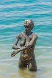 Tratamiento Jordania del cuidado del cuerpo del fango del mar muerto fotos de archivo libres de regalías