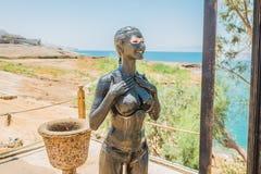 Tratamiento Jordania del cuidado del cuerpo del fango del mar muerto foto de archivo libre de regalías