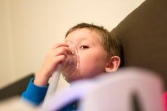 Tratamiento médico respiratorio Foto de archivo