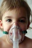 Tratamiento pediátrico del nebulizador Fotos de archivo
