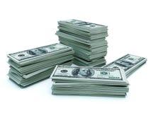 Tratamiento por lotes de dólares Fotografía de archivo libre de regalías
